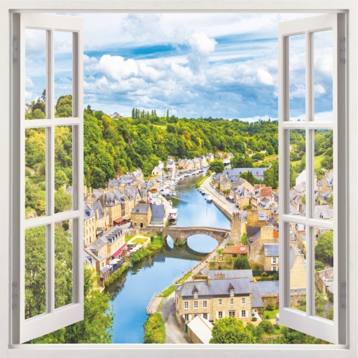 Фотообои Bellissimo Окно в Европу, 4 листа 140х140 см