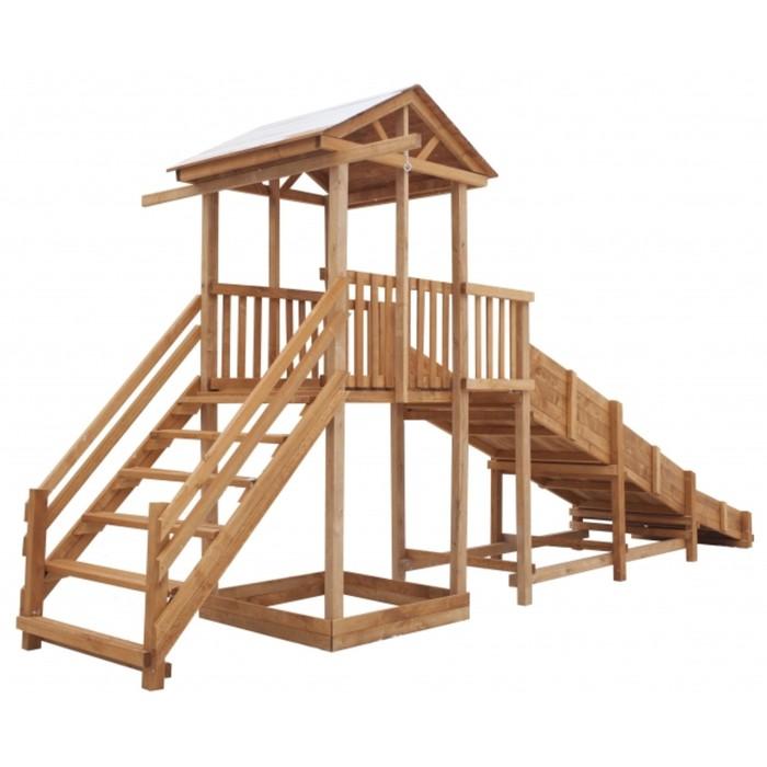Детская площадка Можга Спортивный городок с зимней горкой и широкой лестницей