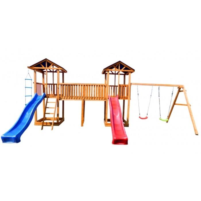 Детская площадка Можга Спортивный городок 6 (Крыша Тент)с качелями