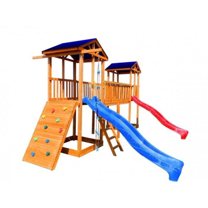 Детская площадка Можга Спортивный городок 6 (Крыша Тент)с широким скалодромом