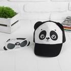"Кепка, очки ""Панда"", детский набор"