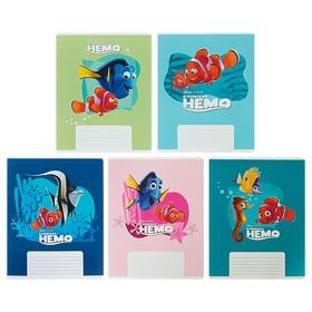 Тетрадь 12 листов в клетку «В поисках Немо и Дори DISNEY», обложка мелованный картон, МИКС