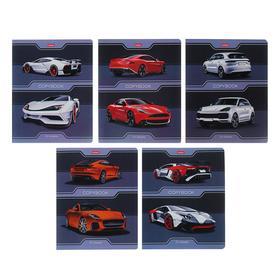 Тетрадь 24 листа клетка «Автомобили», обложка мелованный картон, МИКС