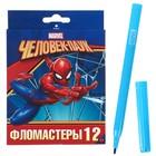 Фломастеры 12 цветов «Человек-паук MARVEL», европодвес