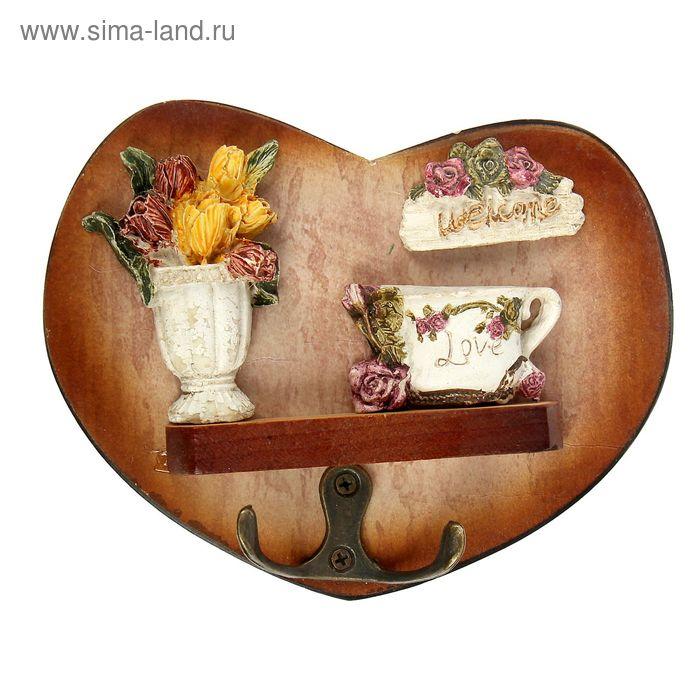 """Крючки декоративные """"Тюльпаны в вазе"""""""