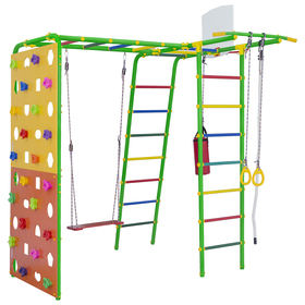 Детский спортивный комплекс уличный Street 2 Smile, цвет салатовый/радуга