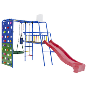 Детский спортивный комплекс уличный Street3, цвет синий/радуга