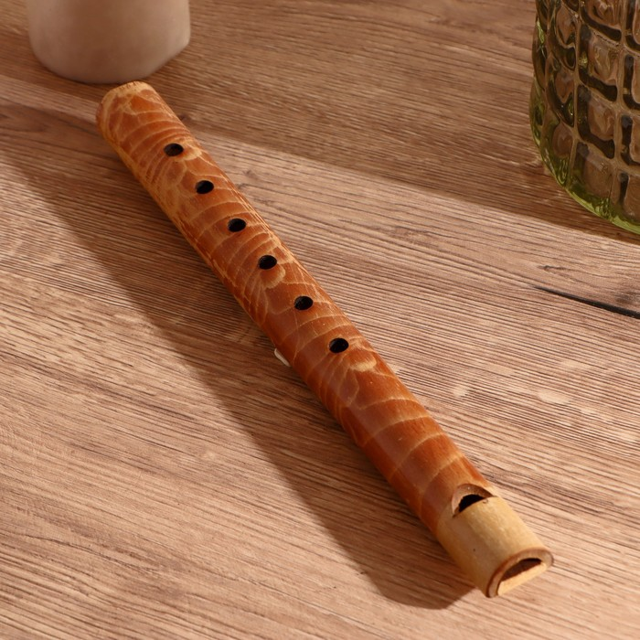 """Музыкальный инструмент бамбук """"Флейта"""" 30x2,5x2,5 см"""