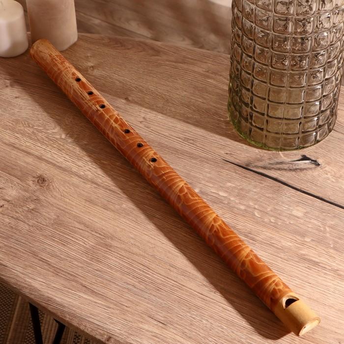 """Музыкальный инструмент бамбук""""Флейта расписная"""" 60x3,5x3,5 см"""