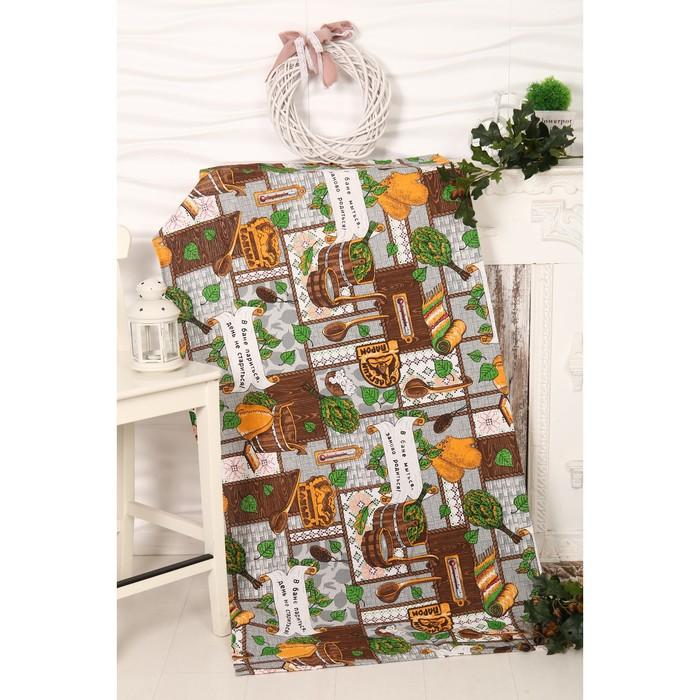 Вафельное полотенце Банный день 80х150 см, разноцветный, хлопок 100%, 160г/м2