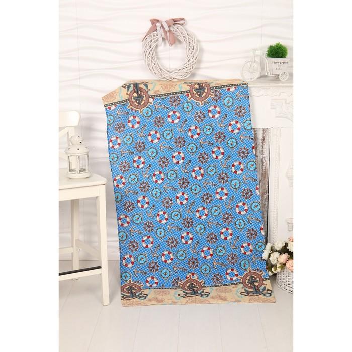 Вафельное полотенце Якоря 80х150 см, разноцветный, хлопок 100%, 160г/м2