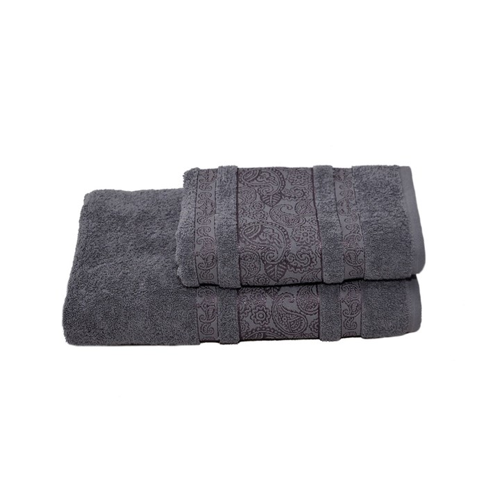 Полотенце махровое Бодринг 50х90 +/- 2 см, серый, хлопок 100%, 430г/м2
