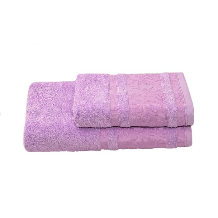 Полотенце махровое Лейла 50х90 +/- 2 см, лаванда, хлопок 100%, 430г/м2