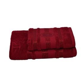 Полотенце махровое Спартак 50х90 +/- 2 см, бордовый, хлопок 100%, 430г/м2