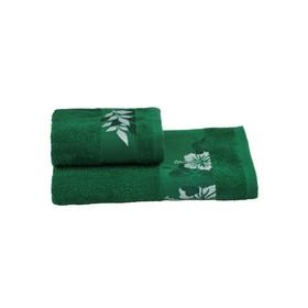 Полотенце махровое 30х60 +/- 2 см, зеленый, хлопок 100%, 360 г/м2