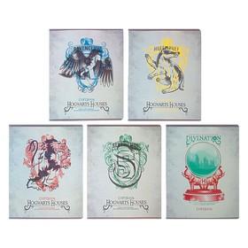 Тетрадь 48 листов в клетку «Гарри Поттер», обложка мелованный картон, матовая ламинация, МИКС