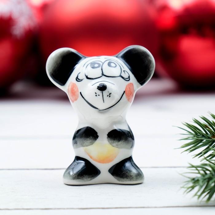 Сувенир «Мышонок Маус», 5,5 см, цвет, гжель