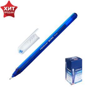"""Ручка шариковая масляная Pensan """"Buro"""", цвет чернил синий, корпус тонированный синий, игольчатый узел 1 мм, линия письма 0,8 мм"""