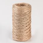 Шпагат джутовый d=1,5 мм, 60 м, скрученный, цвет натуральный