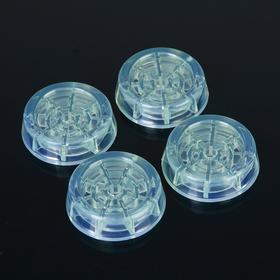 Подставки антивибрационные круглые, 4 шт, прозрачные