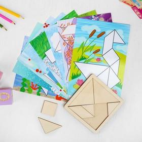 Танграм с набором карточек «Кроха» 8 карточек