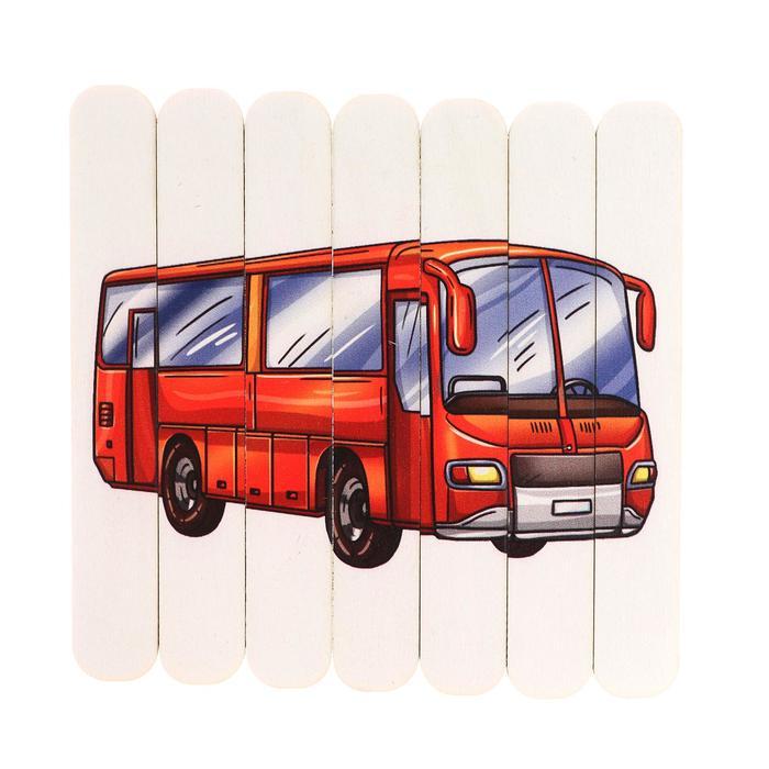 Пазлы из палочек «Транспорт» размер пазла: 13 × 13,5 см - фото 107014744