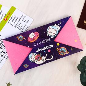 """Набор """"It's time for adventure"""", туристический конверт, обложка на паспорт, бирка на чемодан   40236 - фото 4638263"""