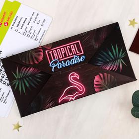 """Набор """"Tropical Paradise"""", туристический конверт, обложка на паспорт, бирка на чемодан - фото 4638189"""