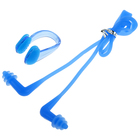Earplugs for swimming+nose clip, silicone, mix color