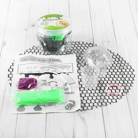 Набор для опытов «Мялка в сетке с блёстками», цвет зелёный