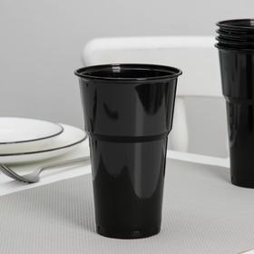 "A glass 500 ml ""black"", color: black"