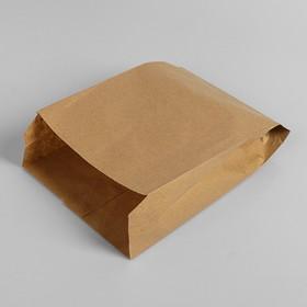 Пакет бумажный фасовочный, крафт, V-образное дно 25 х 17 х 7 см