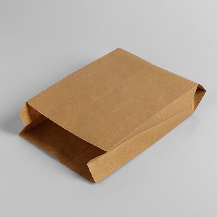 Пакет бумажный фасовочный, крафт, V-образное дно 30 х 17 х 7 см - фото 308015771