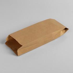Пакет бумажный фасовочный, крафт, V-образное дно 30 х 10 х 5 см