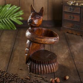 "{{photo.Alt || photo.Description || 'Подставка под бутылку дерево ""Кошка"" 12х10х25 см МИКС'}}"