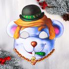 """Mask Christmas """"Banker"""", 25.5 x 27.4 cm"""
