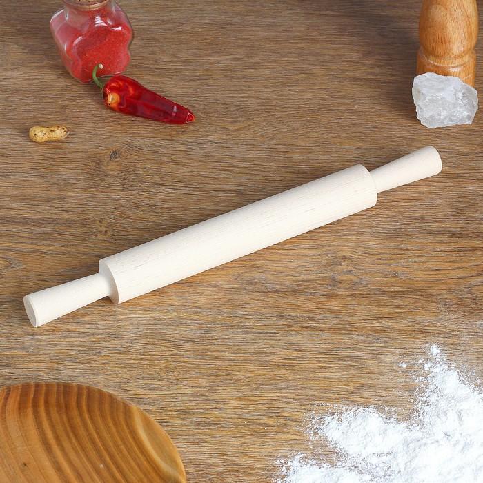 Скалка с ручками, берёза, 35×3,5 см