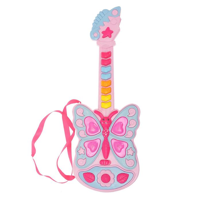 Гитара «Бабочка», световые и звуковые эффекты, в пакете