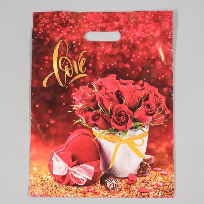 """Пакет """"Подарок милой"""", полиэтиленовый с вырубной ручкой, 31х40 см, 60 мкм - фото 272654697"""