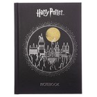 Бизнес-блокнот А6, 64 листа «Гарри Поттер» твёрдая обложка, тиснение фольгой