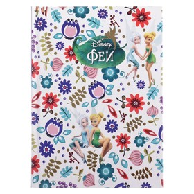 "Business notebook A6, 64 sheets of ""Fairies DISNEY"", hard cover, foil stamping."
