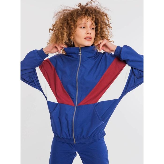 Олимпийка женская, цвет синий, размер 44 (S)