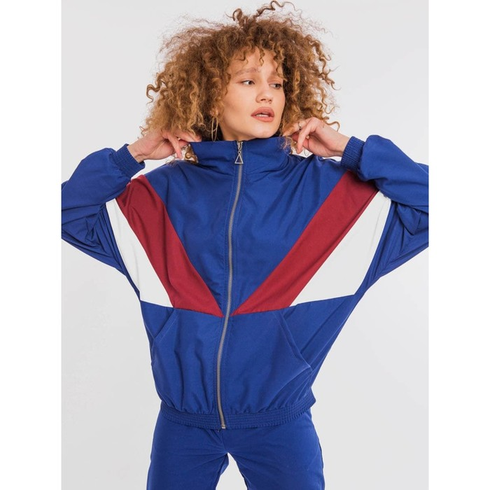 Олимпийка женская, цвет синий, размер 52 (XXL)