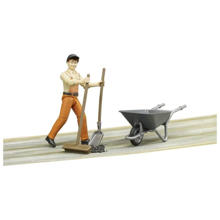 Фигурка «Работник коммунальной службы», с тележкой и аксессуарами