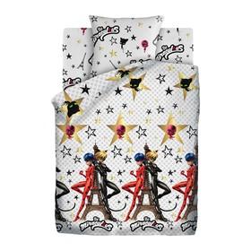 Детское постельное бельё 1,5 «Леди Баг» Париж, 143х215, 150х214, 70х70 см