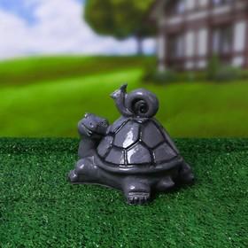 Фигурка садовая «Черепаха и улитка», гипс