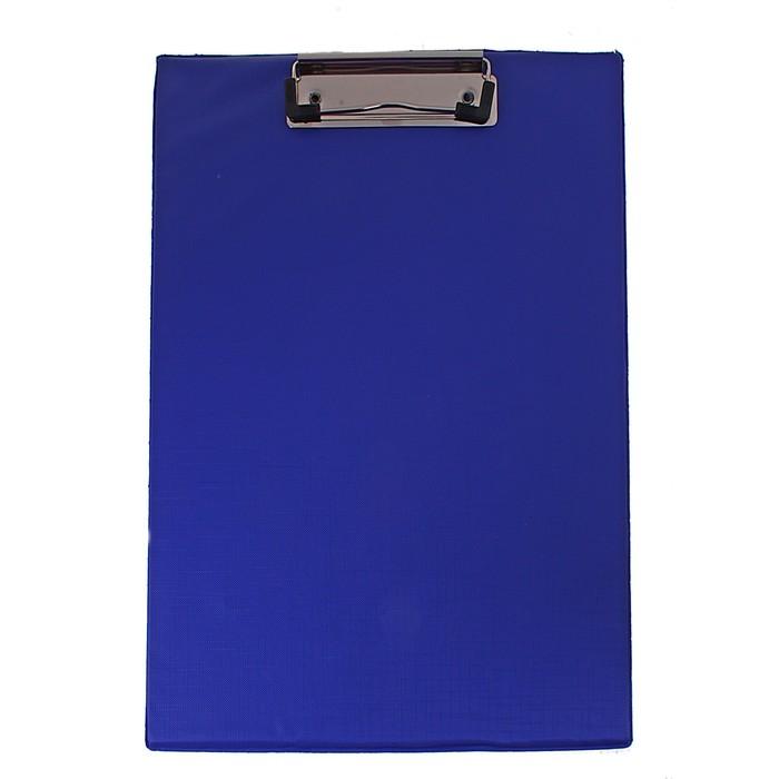 Планшет с прижимом, формат А4, синий - фото 438352569