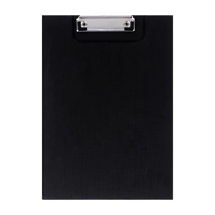 Планшет-папка с прижимом, формат А4, ПВХ, чёрная - фото 671310292
