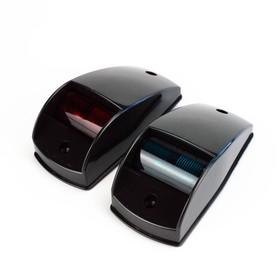 Огни ходовые Skipper 00194 накладные, пластик черный, 12V,цвет огня красный/зеленый