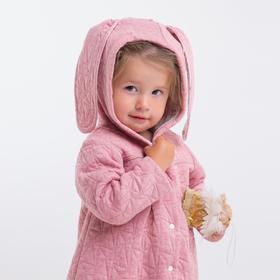Жакет для девочки, цвет розовый, капитоний, рост 80 см, (52)